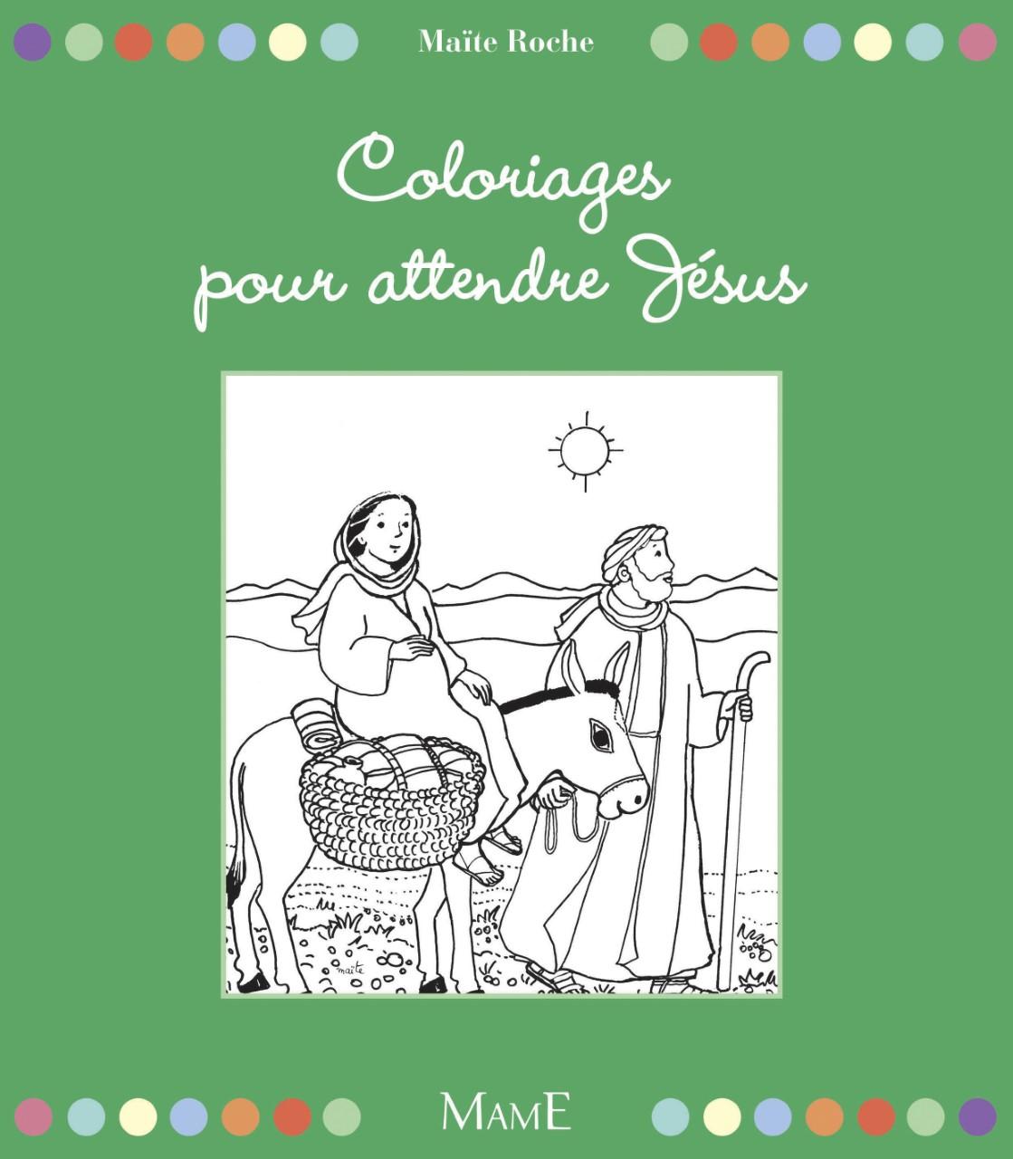 couverture livre Coloriages pour attendre Jésus Mame