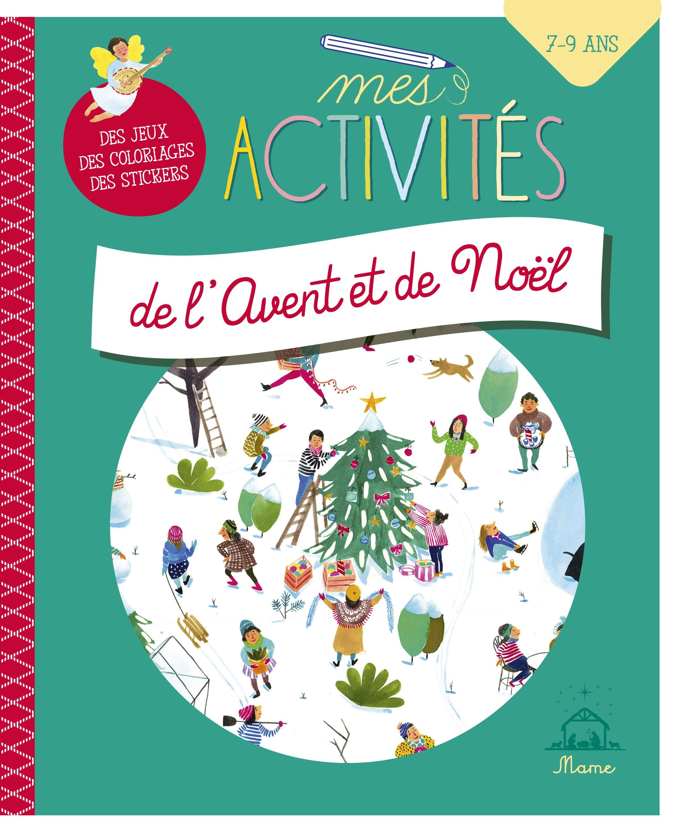 couverture livre Mes activités de l'Avent et de Noël (7-9 ans) Mame
