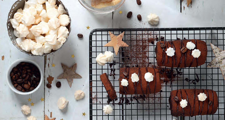 Mini-bûches de Noël au chocolat