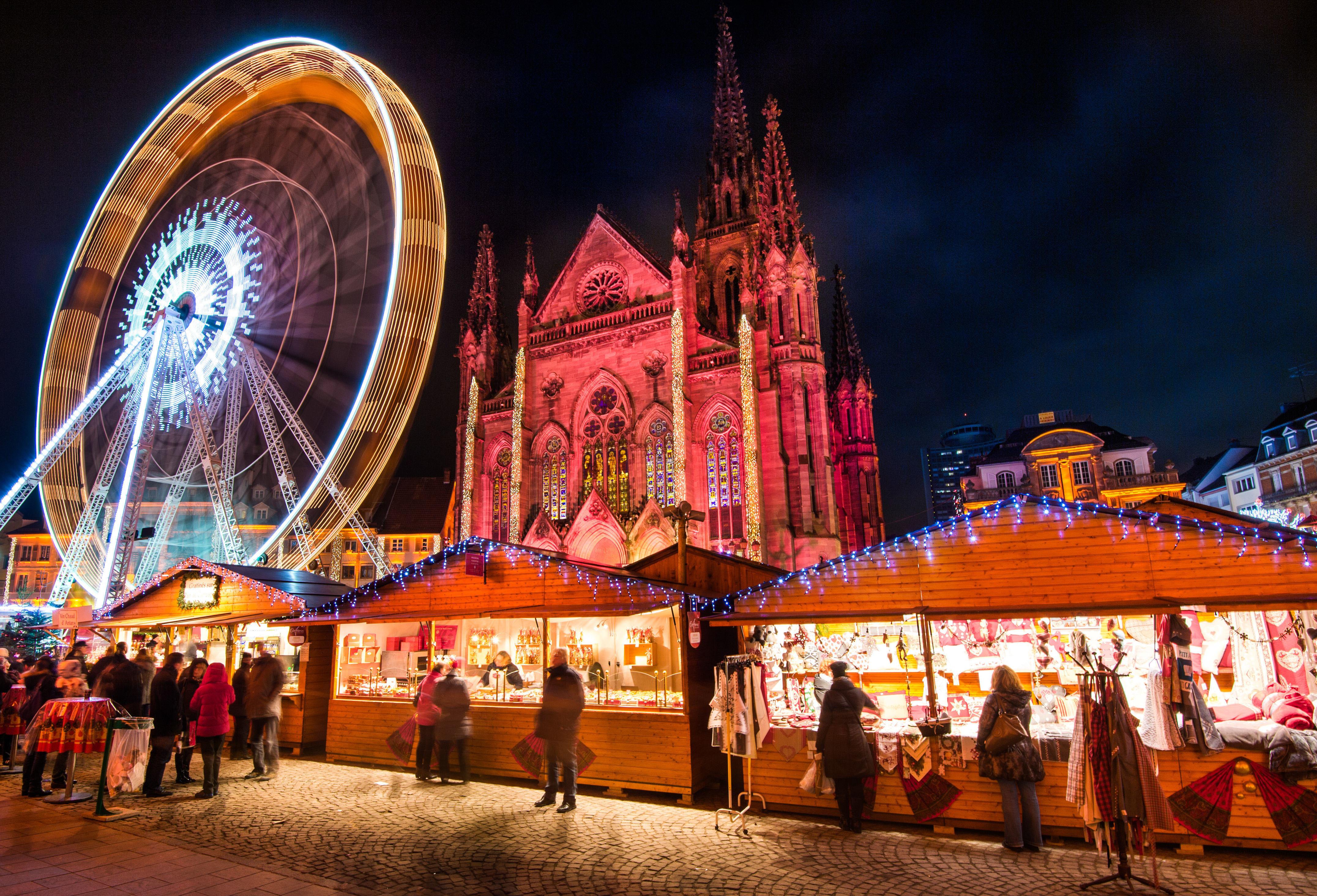 Le marché de Noël de Mulhouse en Alsace dans le Haut-Rhin