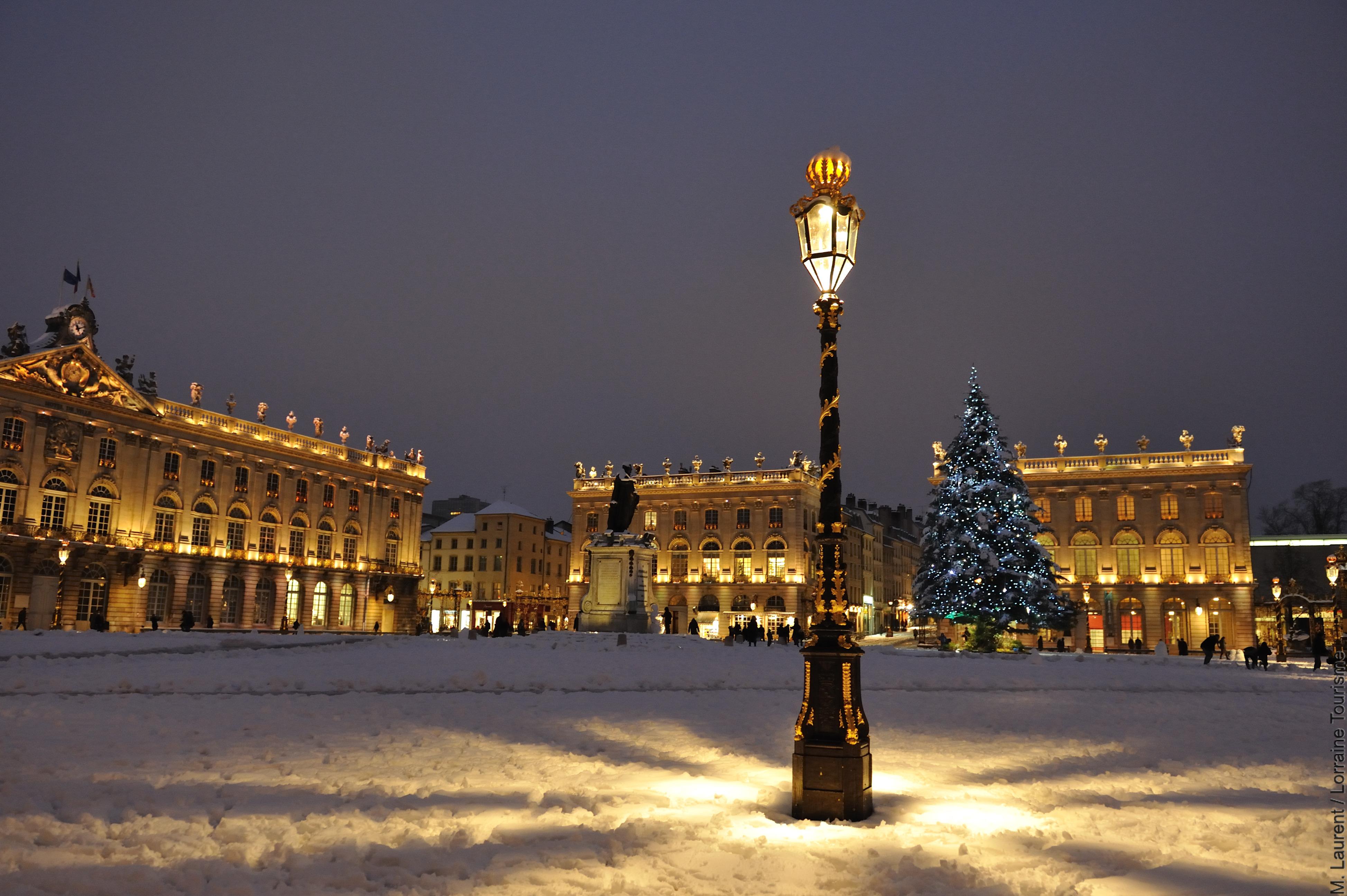 Nancy en Lorraine, le sapin de Noël place Stanislas, Patrimoine mondial de l'UNESCO