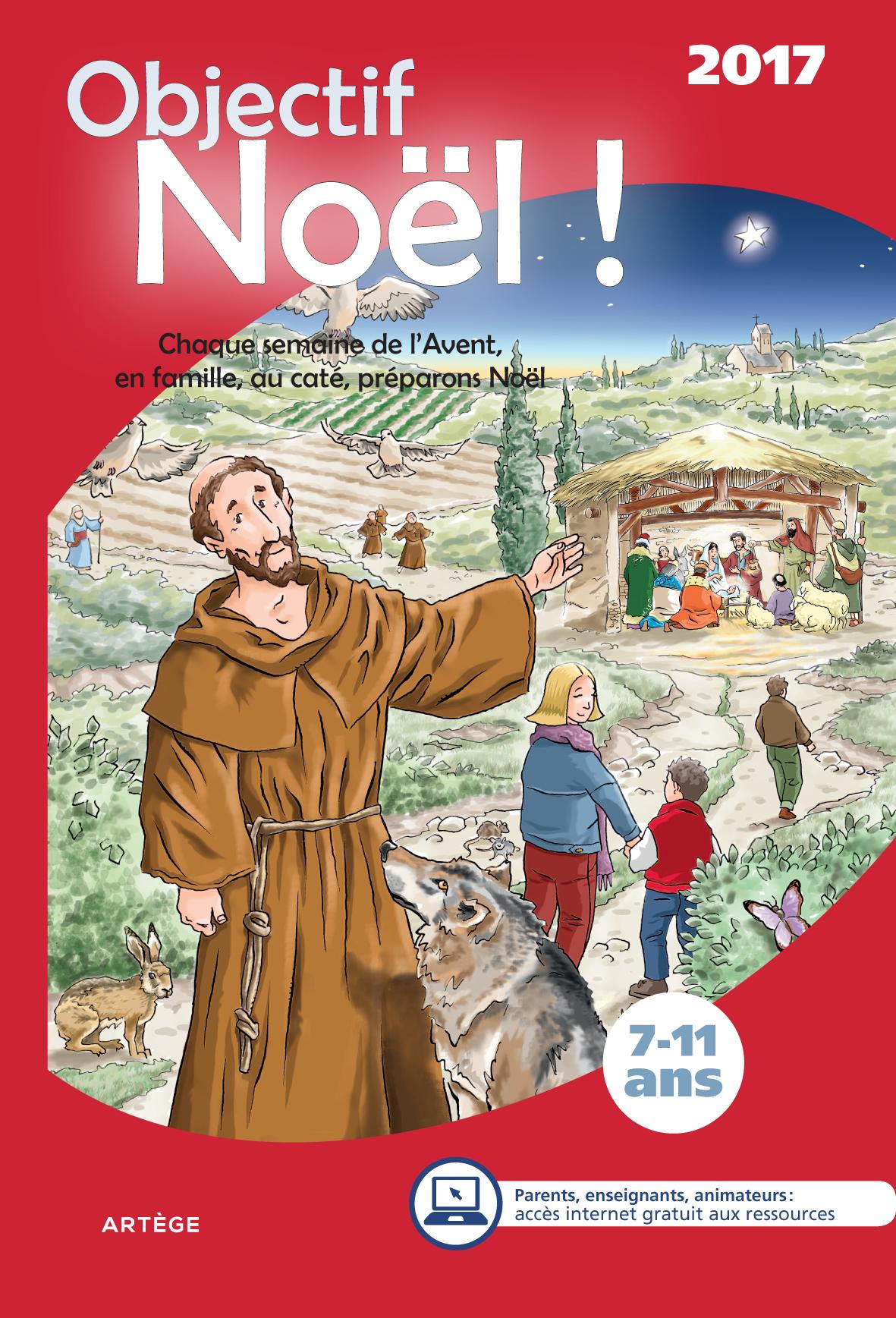 couverture livre Objectif Noël 2017 7-11 ans Artège
