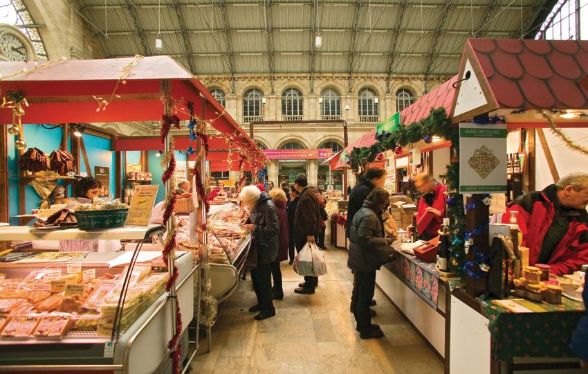 le marché de Noël alsacien de la gare de l'Est à Paris