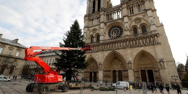 FRANCE-CHRISTMAS-TREE-Notre-Dame de Paris