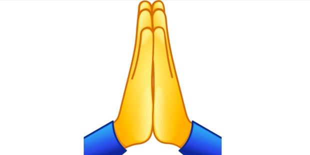 Prière ou « high five » : que représente l'emoji des deux mains ?