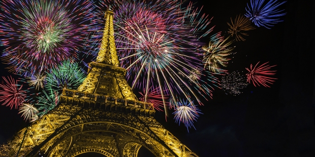 Eiffel Tower fireworks