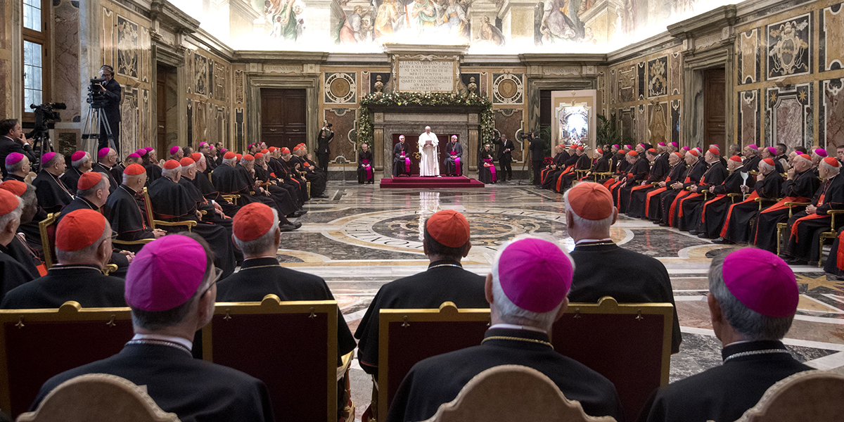Pope Francis - Christmas greetings to the Roman Curia
