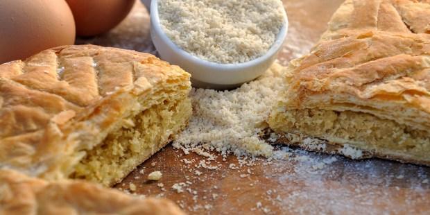 frangipane cake and almond powder flour