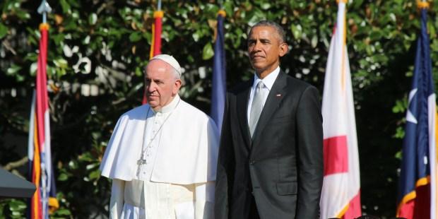 POPE BARACK OBAMA