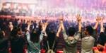 young praying raised hand