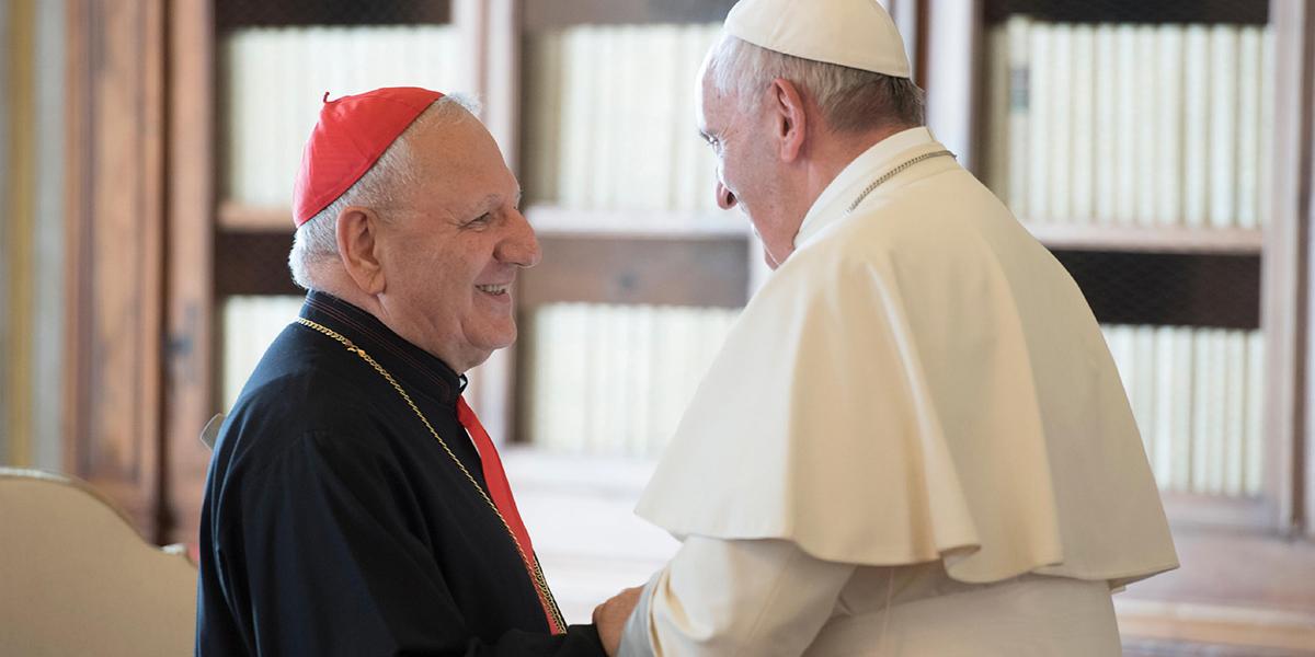 POPE FRANCIS - PATRIARCH LOUIS RAPHAEL SAKO