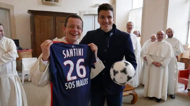 FRÈRE RENAUD O'PRAEM AND THE FOOTBALL PLAYER IVAN SANTINI