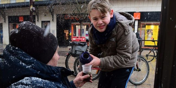 GABRIEL,10 YEAR OLD,FEEDS,HOMELESS