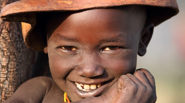 HAPPY AFRICAN LITTLE BOY