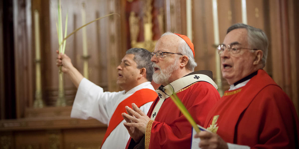 PRIESTS AT PALM SUNDAY