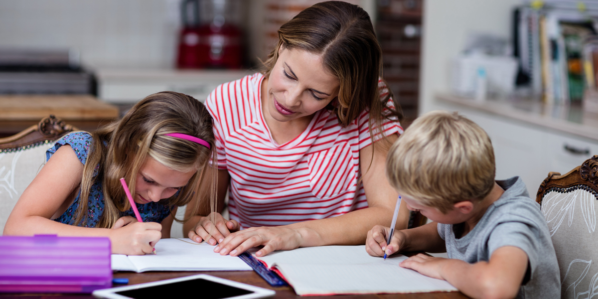 MOM,KIDS,HOMEWORK