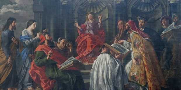 JESUS CHRIST TEACHING IN THE TEMPLE