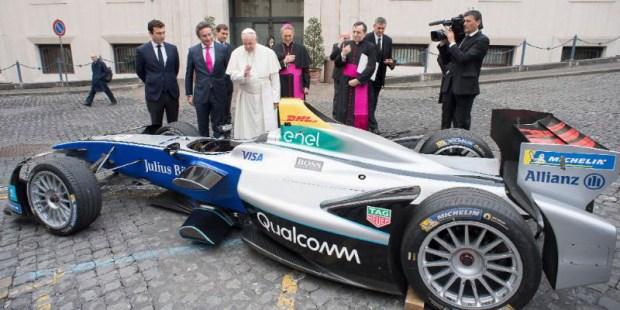 POPE FRANCIS FORMULA E CAR