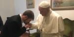 POPE FRANCIS MEETS THOMAS EVANS