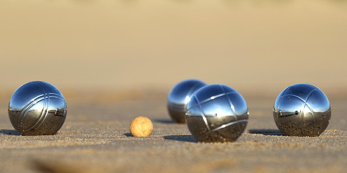 BOCCE BALLS ON SANDY BEACH