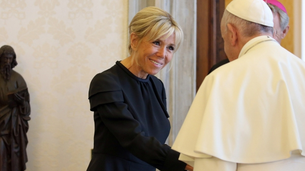 BRIGITTE MACRON POPE