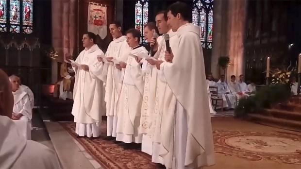 PRIESTS,SINGING,ORDINATION