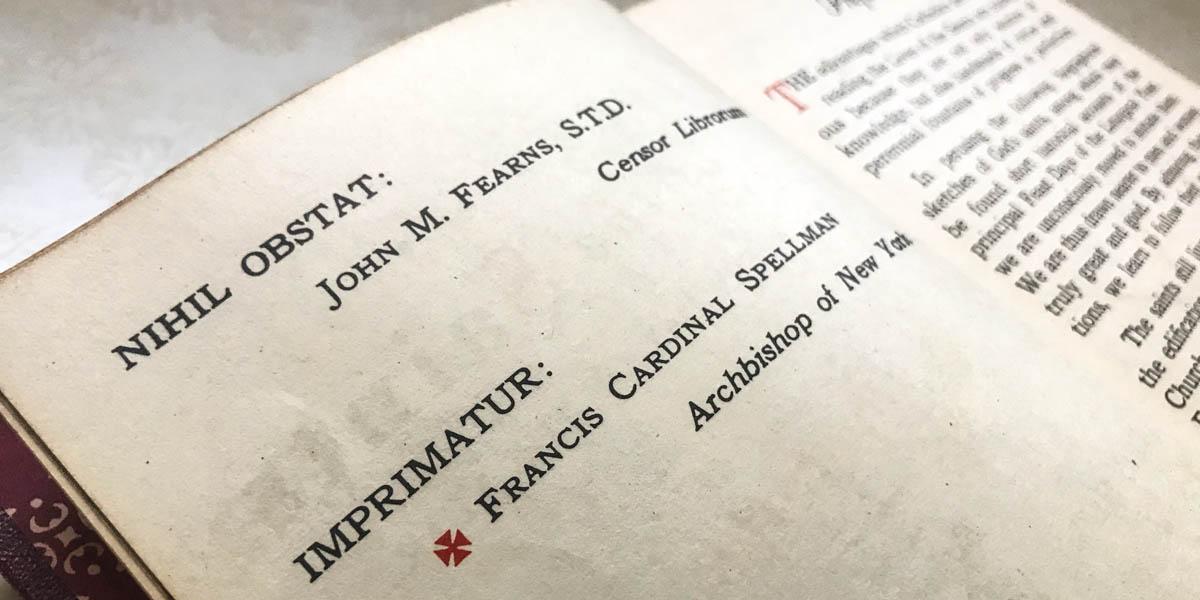 IMPRIMATUR,BOOK
