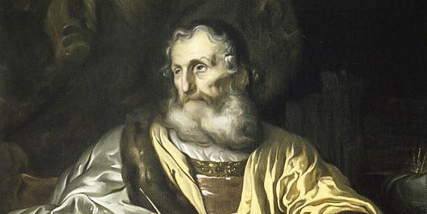 KING DAVID WRITING THE PSALMS