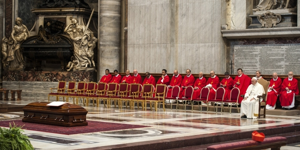 POPE FRANCIS FUNERAL CARD. JEAN-LOUIS TAURAN