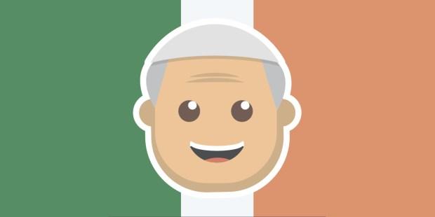 IRELAND,POPE EMOJI