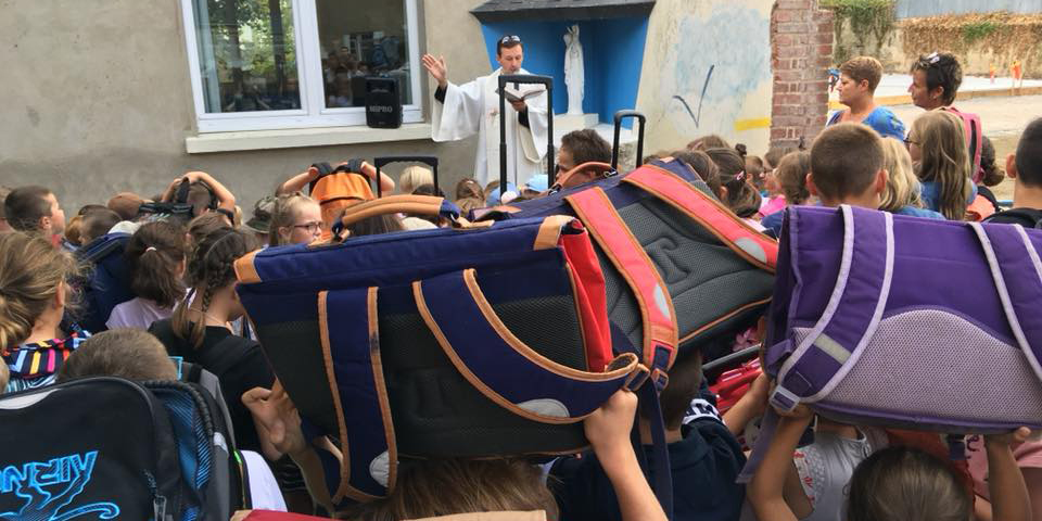 BLESSING OF SCHOOL BAGS
