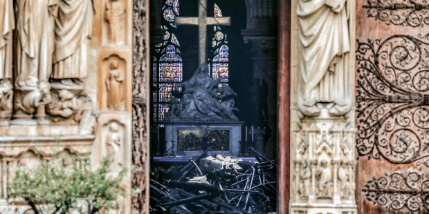 En images : l'intérieur de Notre-Dame de Paris après l'incendie