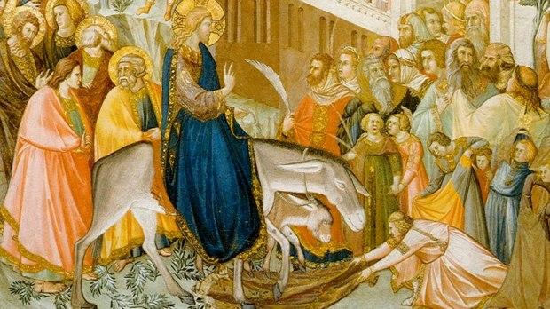 Arrivée du Christ à Jérusalem, par Pietro Lorenzetti.
