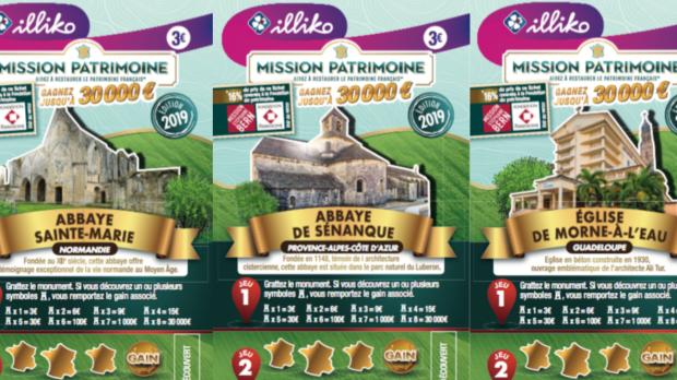 tickets de grattage loto du patrimoine 2019