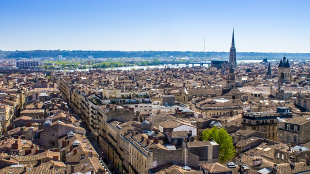 Aerial view of the city of Bordeaux in france - Image