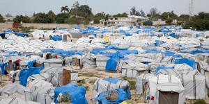 Village tente à Haiti