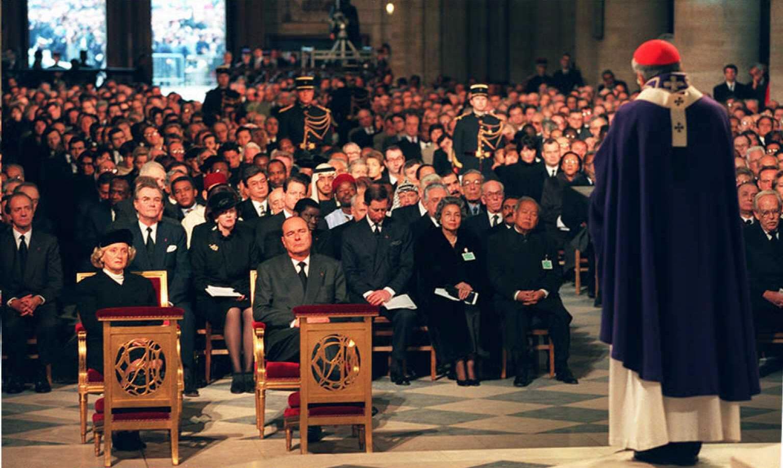Hommage national de François Mitterrand à Notre-Dame de Paris