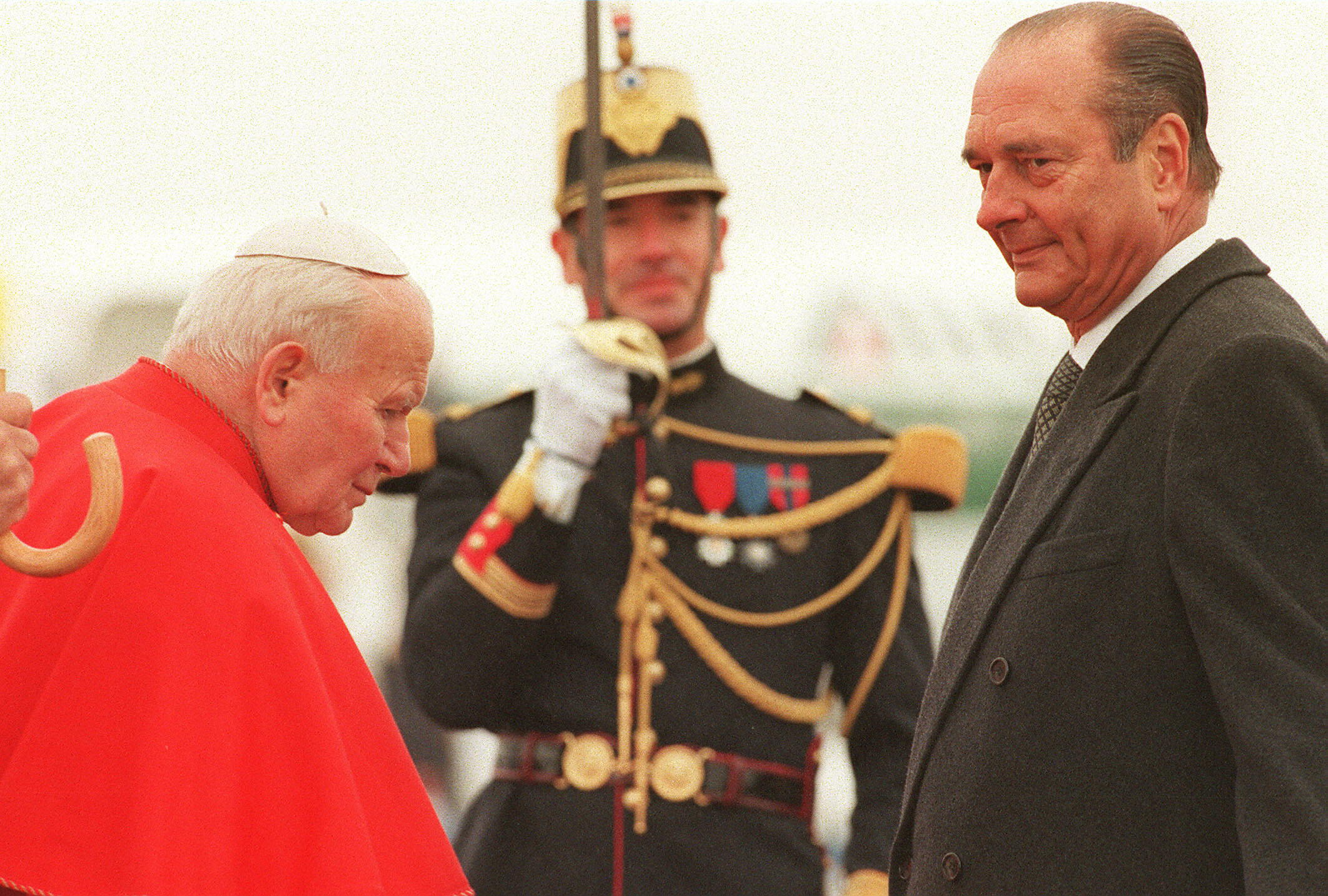 Jean Paul II et Jacques Chirac
