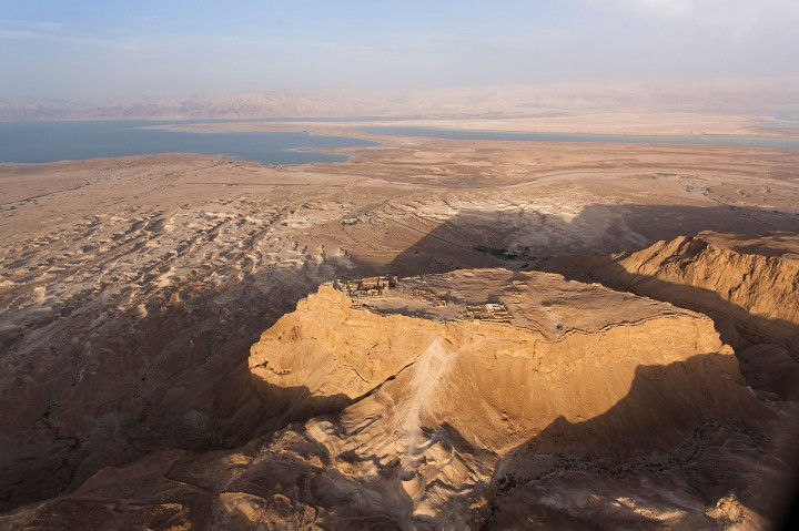 Vue aérienne de Massada