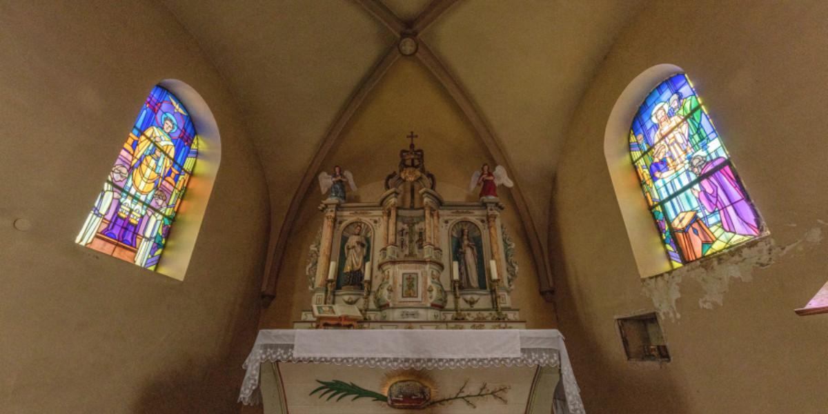 Vitraux chapelle d'Entrange
