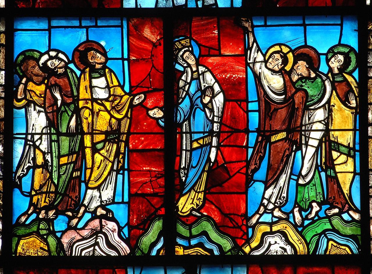 Vitrail, cathédrale du Mans