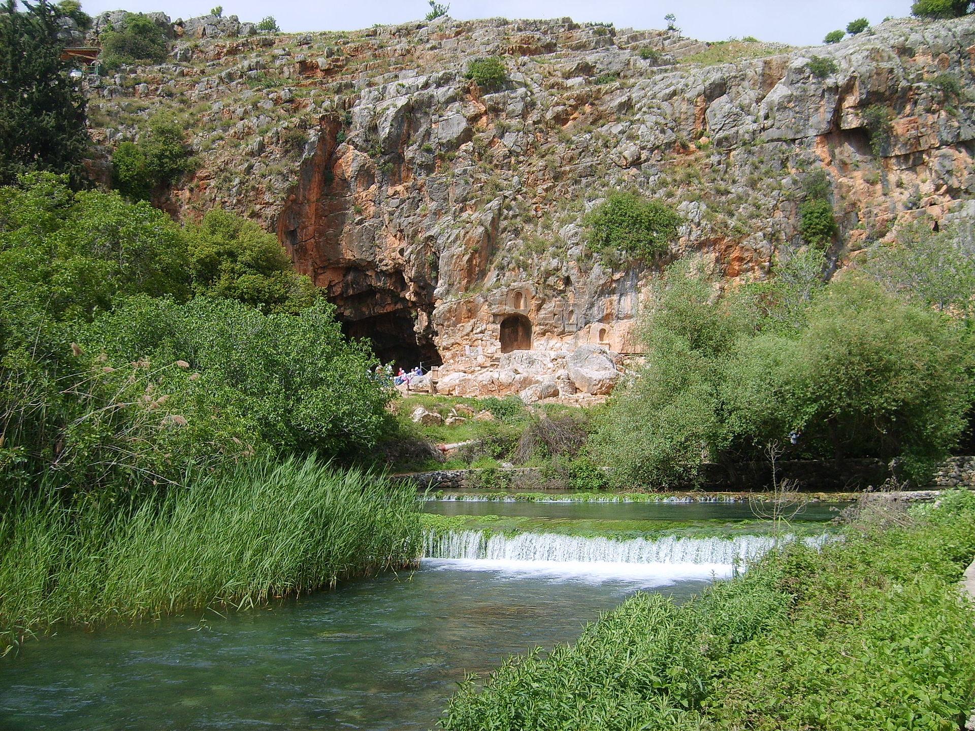 La grotte de Pan à Banias