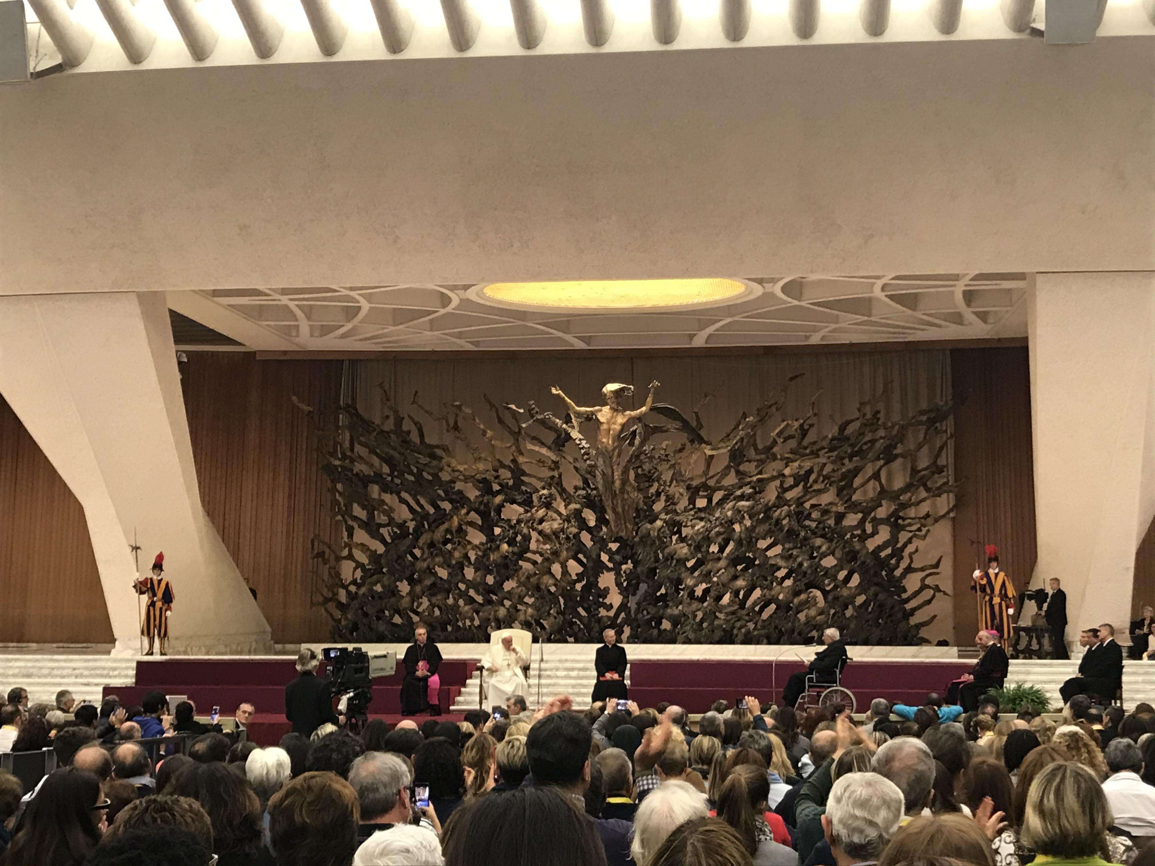 Le pape François a reçu ce lundi 18 novembre 2019 les membres des cellules paroissiales d'évangélisation.