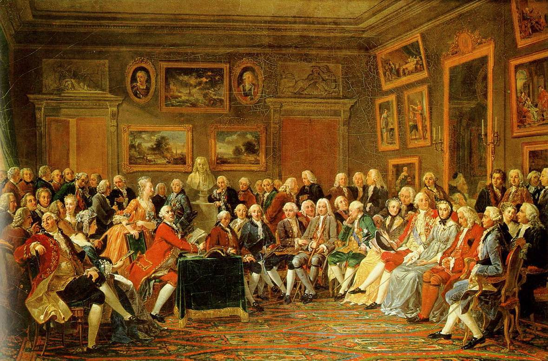 Salon de Madame Geoffrin, par Lemonnier, château de la Malmaison