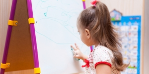White board - Writing - Girl - Drawing