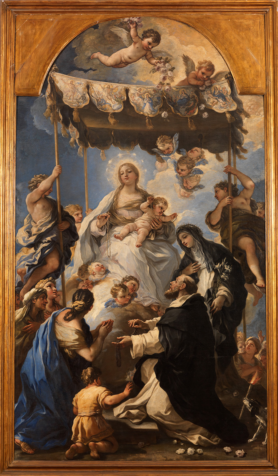 la Madone du rosaire