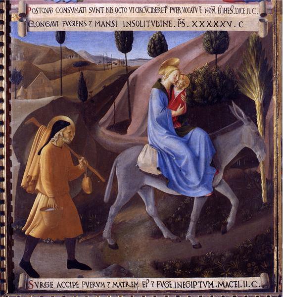 Fra Angelico le fuite en égypte