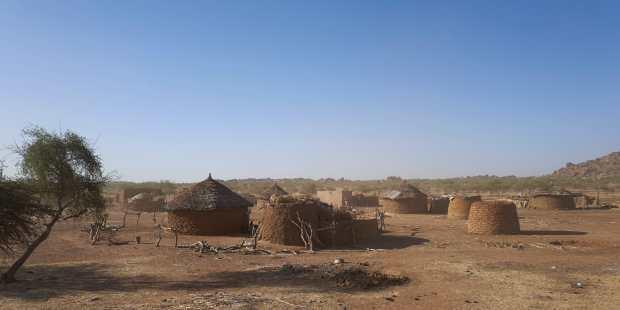 Un village du nord du Burkina Faso, le 14 novembre 2019, le long de la frontière avec le Mali et le Niger (Photo d'illustration).