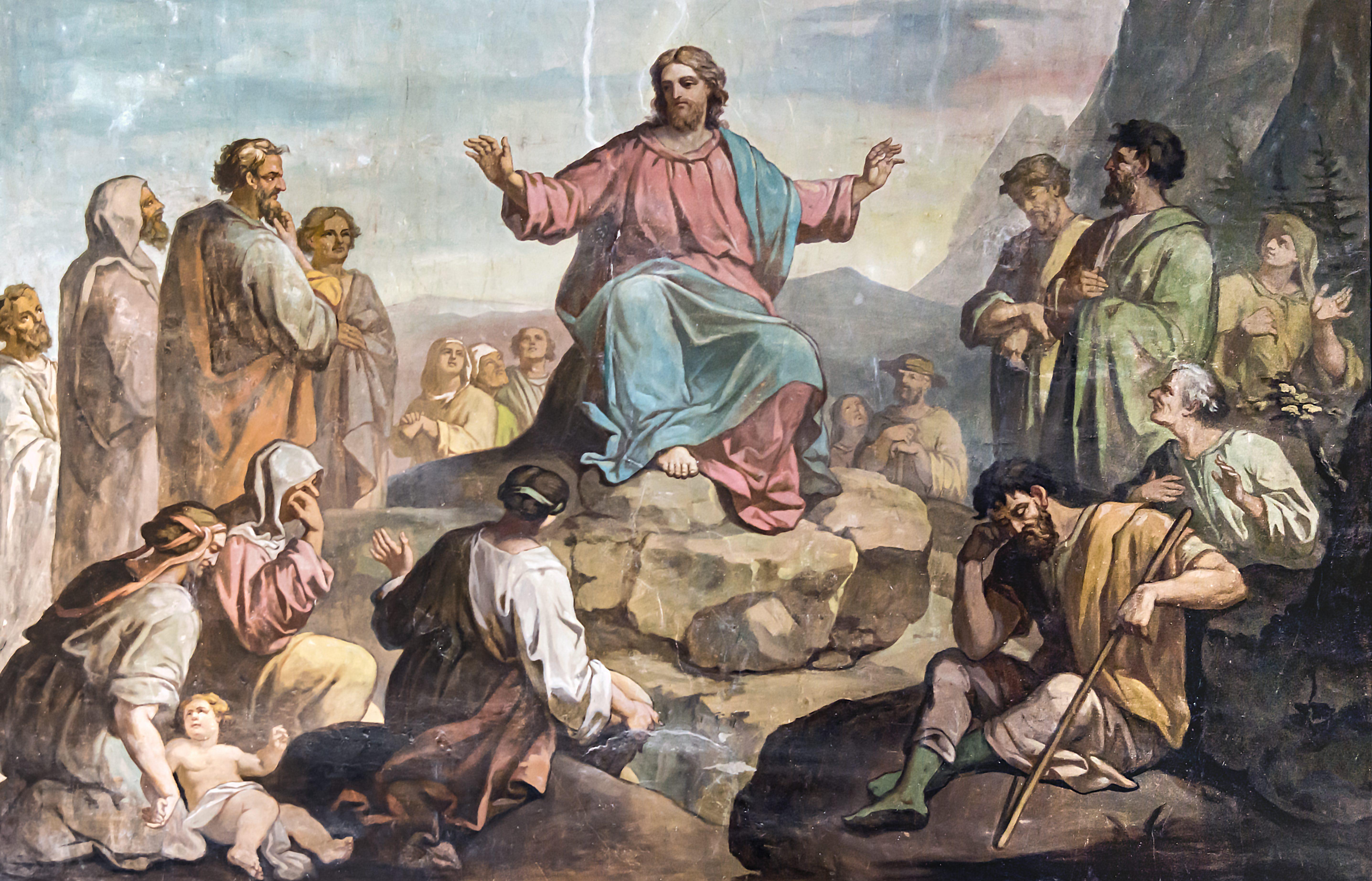 Église Saint-Martin de Castelnau-d'Estrétefonds - Le Sermon sur la montagne par Robert Arsène