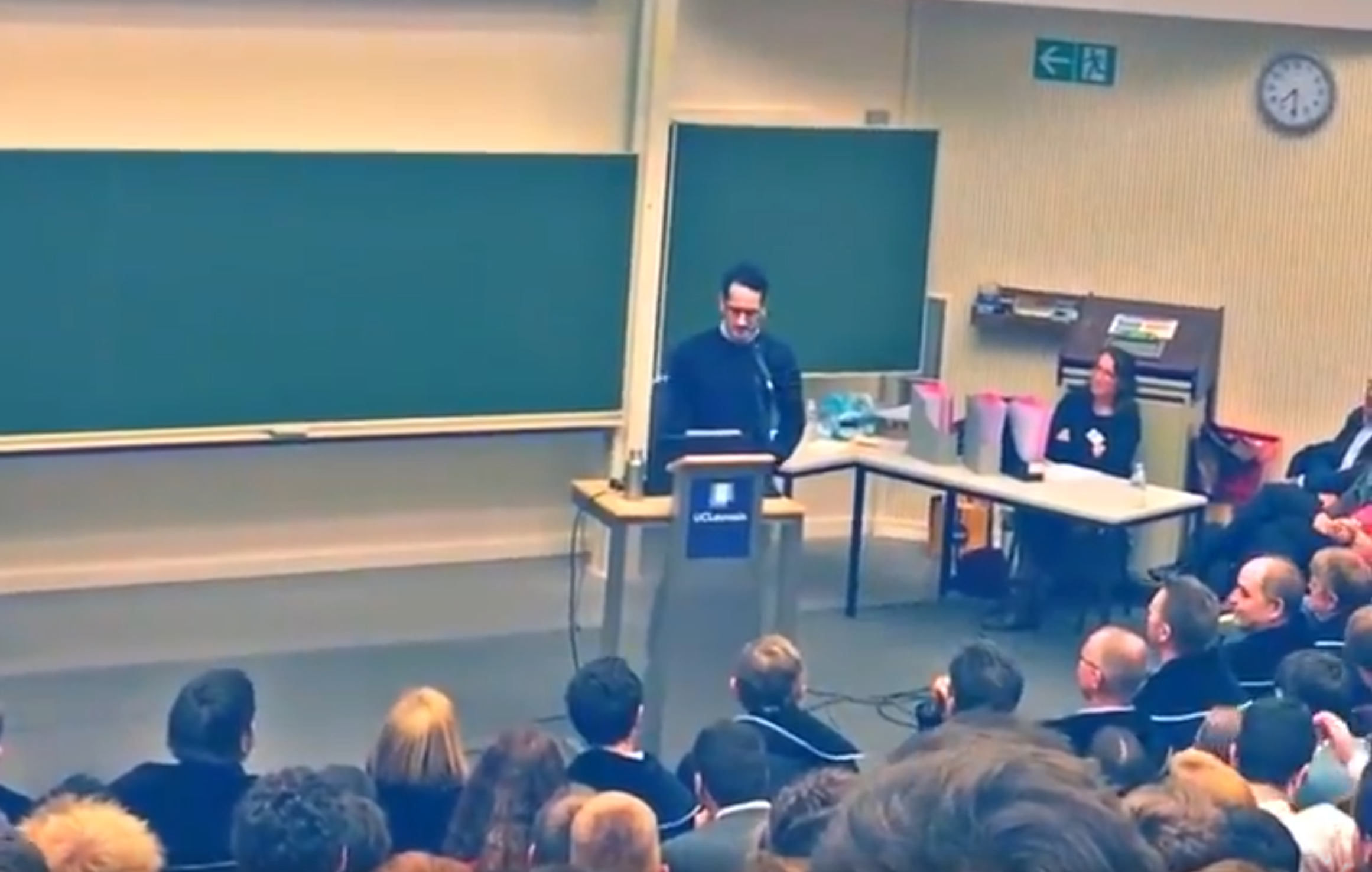 Pedro Correa à l'Université catholique de Louvain.